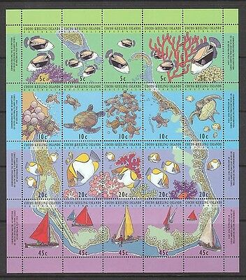 Mint 1994 Map Of Cocos Island Sheetlet Muh