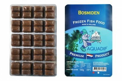 18 x Bosmiden 100 gram Blister Packs - Premium Frozen Fish Food