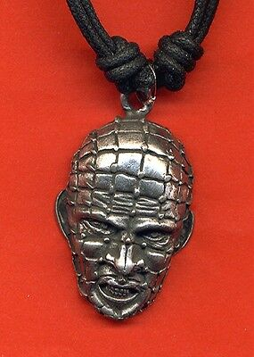 Pinhead Pendant in Pewter on Cord Necklace NEW Superhero Hellraiser
