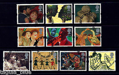 "GB Stamps 1995 ""Greetings in Art"" sg1858-1867 - Fine used"
