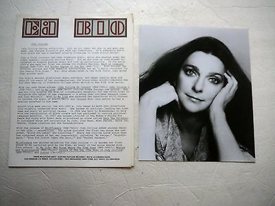 Judy Collins Vintage 1977 Lp Press Kit With Photo