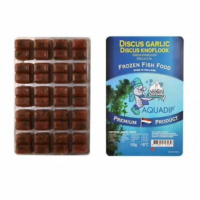 18 x Discus Food (Garlic) 100g Blister Packs - Premium Frozen Fish Food