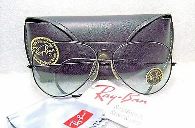 RAY-BAN NOS VINTAGE B&L AVIATOR BLUE *CHANGEABLE BlkChrome *W2455 NEW SUNGLASSES