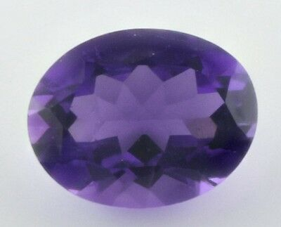 9x7mm OVAL-FACET VERY DEEP-PURPLE NATURAL AFRICAN AMETHYST GEMSTONE