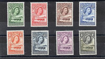 BECHUANALAND QE2 1955-58 set to 1sh  sg 143-49 H.Mint