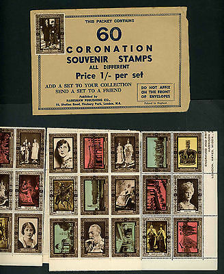 1937 Coronation souvenir stamps unused in original packet
