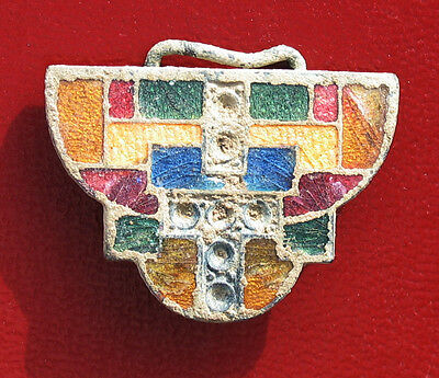 Rare Beautiful belt buckle of Colonial style decorated crystals century XVIII