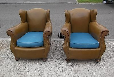 Pair Of Antique Armchairs   Fabulous Shape   Delivery Available
