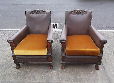Pair Of Antique Armchairs    Delivery Available
