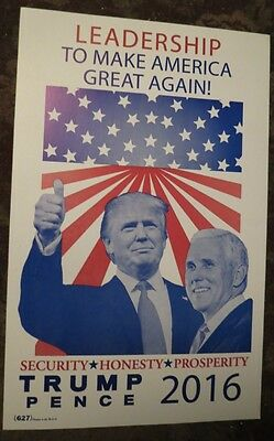 Trump Pence Campaign Poster Make America Great Again! '16 Republican President