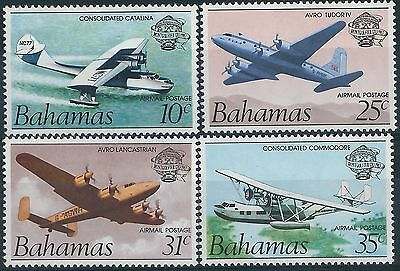 e022) Bahamas. 1983. MNH. SG 663 to 666. Bicent. of Manned Flight. Aviation.