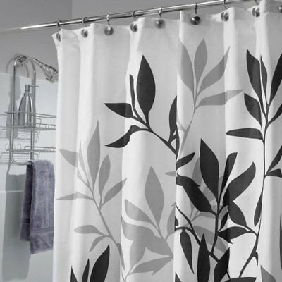 Fabric Shower Curtain: White, Black, and Silver/Gray, Sequins ...