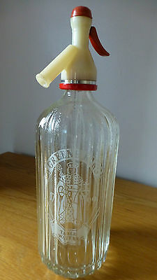An Excellent Greene King Glass Soda Siphon