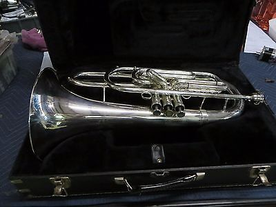Dynasty USA Silver Marching Baritone with case, Just Serviced, Ready to Play