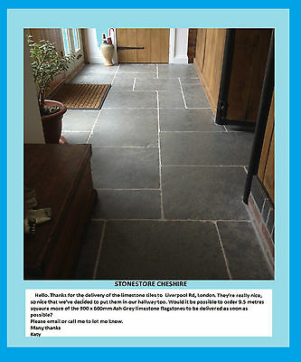 Honed & Tumbled Cathedral Ash Grey Limestone Tiles & Flagstones