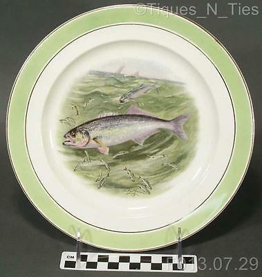 Antique Buffalo Pottery China Game Fish Plate R.K. Beck Artist Signed (210) (FF)