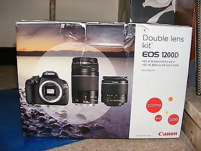 Canon EOS 1200D 18.0MP Digital SLR Camera - Black (Kit w/ EF-S 18-55mm and EF-S