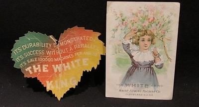 White Sewing Machines Victorian Trade Cards The White is King
