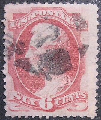 USA 1870-71 6c Lincoln #148 F-VF with fancy cancel cat. €20