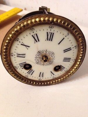 Antique French Figural Mantle Clock Movement Japy Or Marti Style