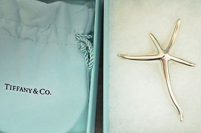 New in Box AUTHENTIC Tiffany Sterling Silver Starfish brooch