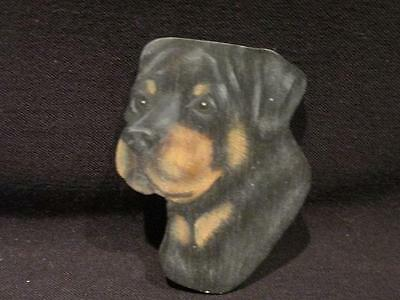Rottweiler by K. Ahlberg 1987 Hand Painted wooden brooch pin