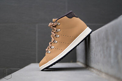 Brand New $130 Adidas Men's Stan Smith Winter Shoes Boots Beige Brown S81558
