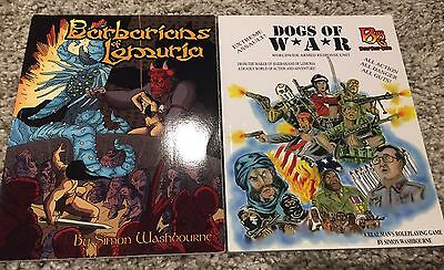 Barbarians Of Lemuria & Dogs Of War RPG Books - Beyond Belief Games