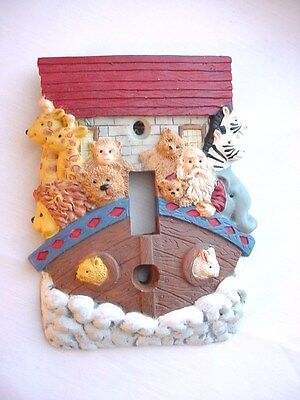Noahs Ark Light Switch Plate Cover Resin Single Toggle