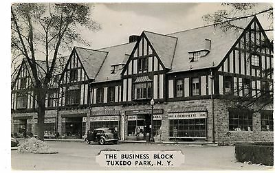 Tuxedo Park NY - STORE FRONTS AT BUSINESS BLOCK - Postcard