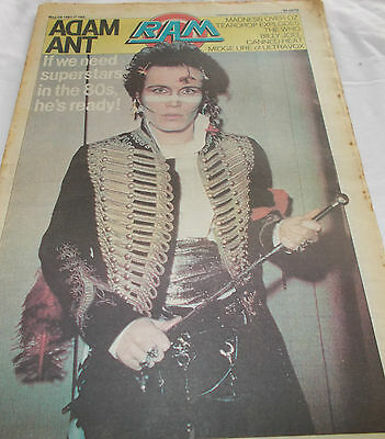 Adam Ant - Ram Oz Music Mag -1981 - Madness - Teardrop Explodes - The Who