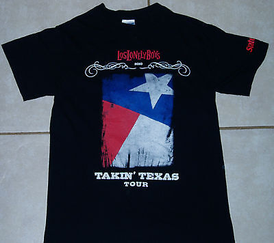 LOS LONELY BOYS 2010 Texas Event Concert Tour T Shirt Small indigenous Lobos