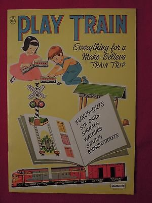 1960s Play Train Unused Punch Out Playset Book ORIGINAL NOT REPRO