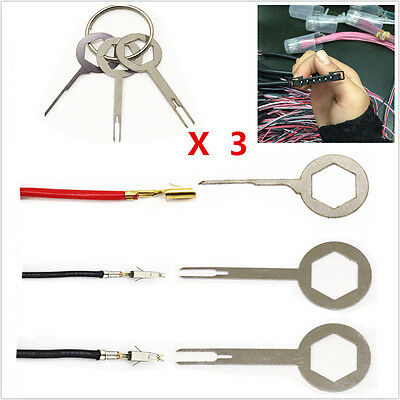 3x Terminal Removal Tool Kit Wiring Crimp connector Pin Release Extractor Puller