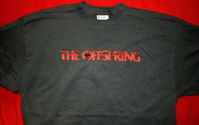 The Offspring T-Shirt Red Letters Logo Gray Size XL