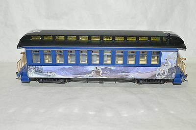 On30 scale Hawthorne Village Silver Moon Holiday Christmas passenger car train 3