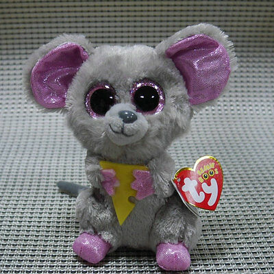 Soft Toy From TY BEANIES BOOS Squeaker Cheez mouse 6 inch Stuffed toy