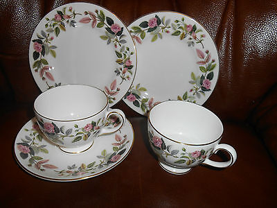 Wedgwood  Hathaway Rose   X  2  Salad Plates, Cup & Saucer + Cup