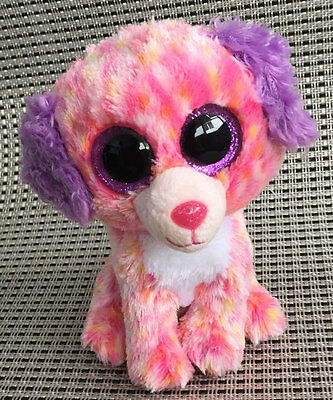 Sot toy From TY BEANIES BOOS Dog Boos London Stuffed toy Without Heart Tag
