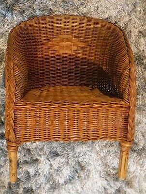 Childs Wicker & Cane Chair-Vintage 1960's ? Natural Color