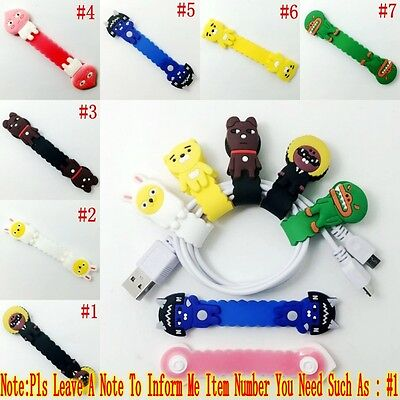 1PCS Cartoon Kakao Friends USB/Headphone Wire Cord Cable Winder Fixer Holder