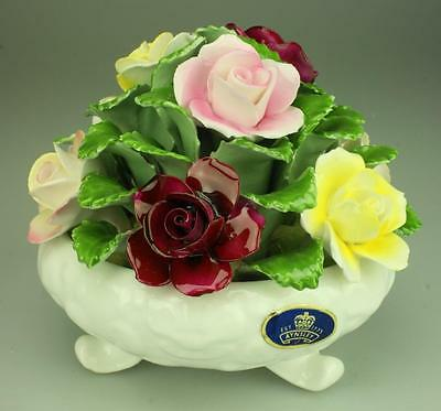 Aynsley Hand Modelled Fine Bone China Floral Rose Bud Posy Made in England DH76