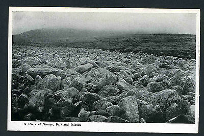 Falkland Islands A river of stones unused Hoods postcard