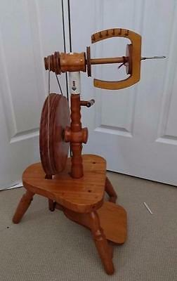 Peacock upright spinning wheel - Model Tui - Made in New Zealand as pictured