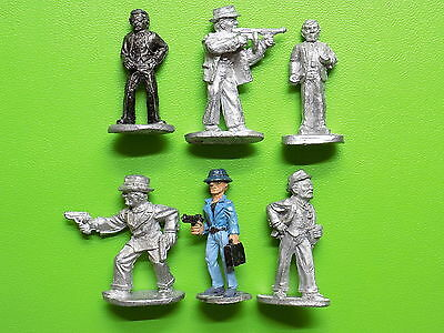 Call of Cthulhu 1920s CHARACTERS GANGSTERS and GMEN x6 CoC Ral Partha 33597