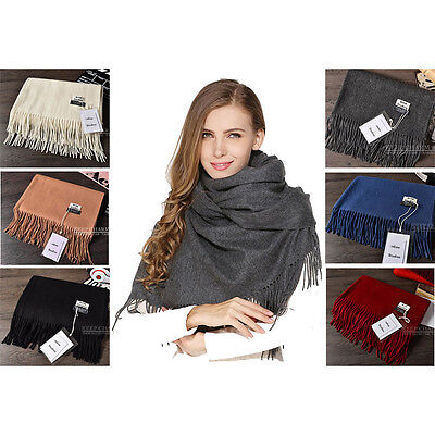 New Acne Pure Color 100% Virgin Wool Unisex Pashmina Cashmere Scarf Shawl