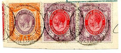 South Africa Revenue George V £10 X 2 + £2 strip