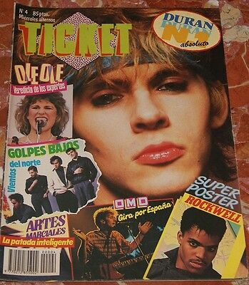 Duran Duran Cover+Clippings Spanish Magazine 1984