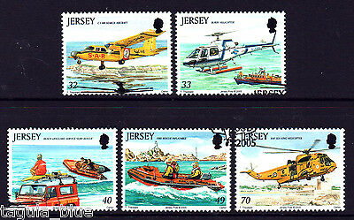 """Jersey Stamps 2005 """"Rescue Craft"""" sg1185-1189 - Fine used"""