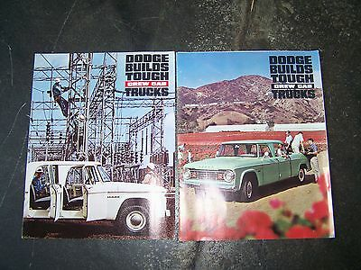 Dodge Crew Cab,power Wagon,1963/65 Sales Brochures,d And W200,400,500,600,700